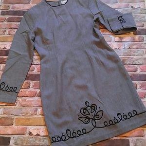 Vintage Misty Lane Gray Dress 6